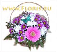 Корзина с цветами №30